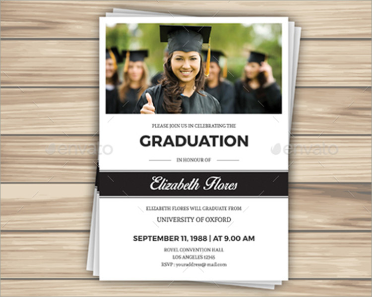 26 graduation invitation templates free word designs for Senior announcement templates free