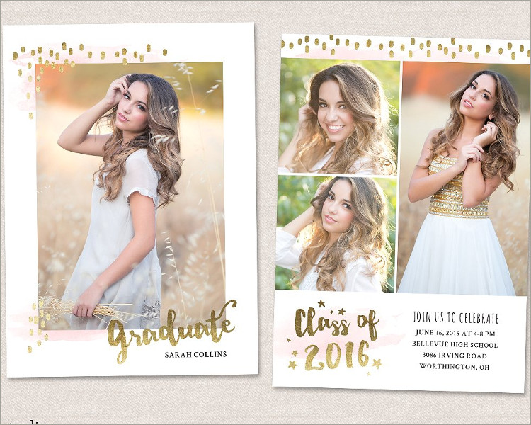 Graduation Card IvitationTemplate