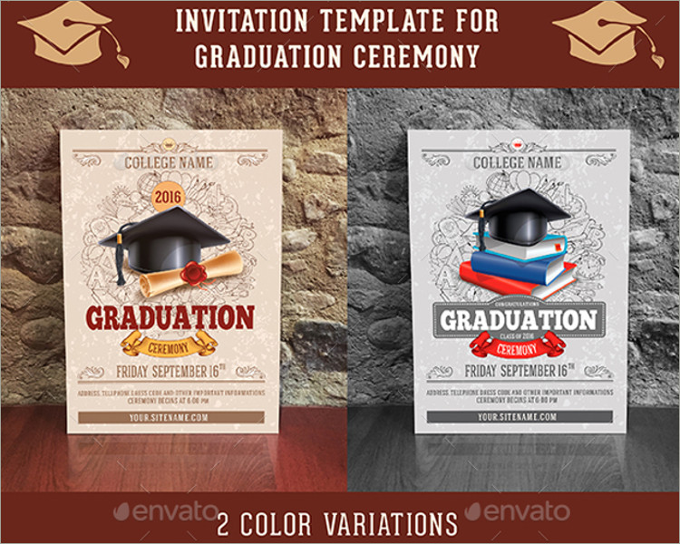 Graduation Ceremony Invitation Template