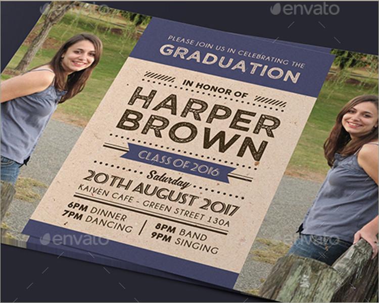 Graduation Invitation printable template