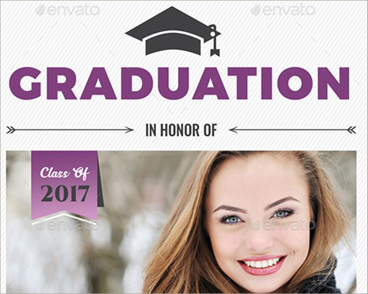 Graduation Invitation template