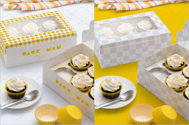 Graphical Food Box Mockup Design