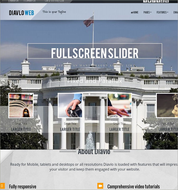 HD Patriotic WordPress Theme