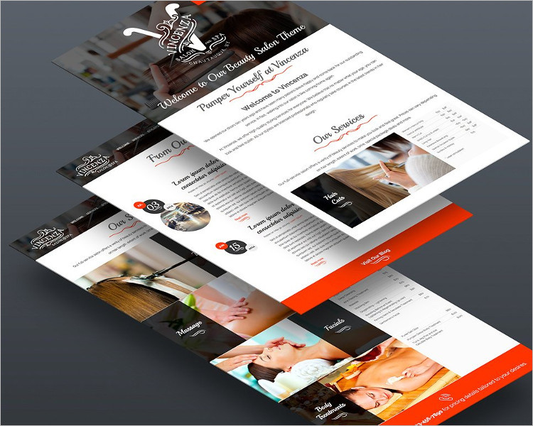 Hair Salon Bootstrap Website Template