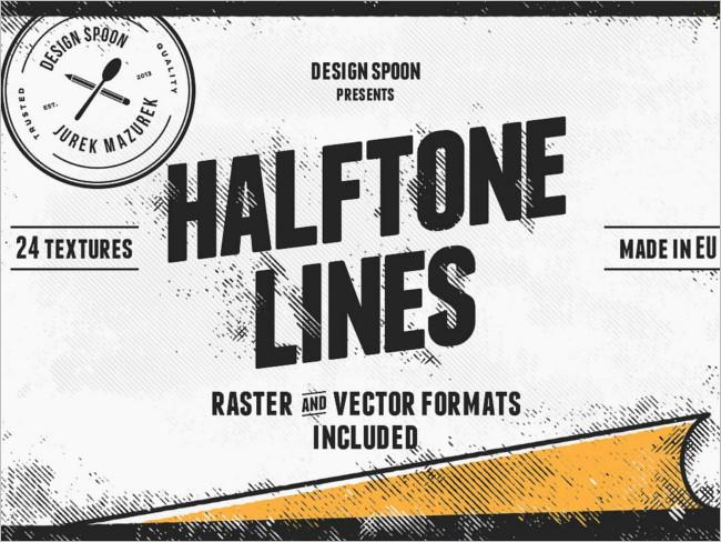 Halftone Texture Pack design