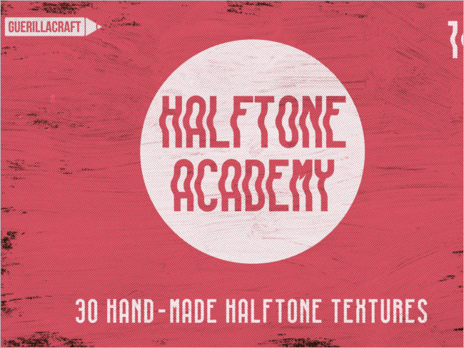 Halftrone Photoshop Texture Design