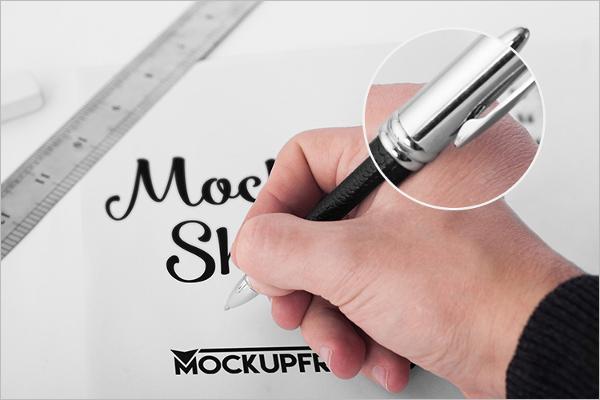Handmade Pen Mockup