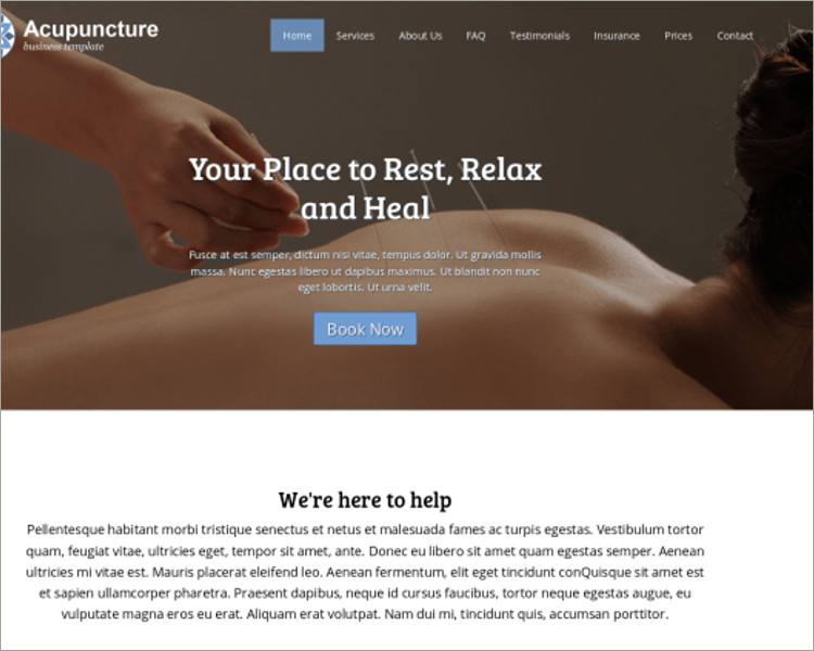 Health Acupuncture WordPress Theme