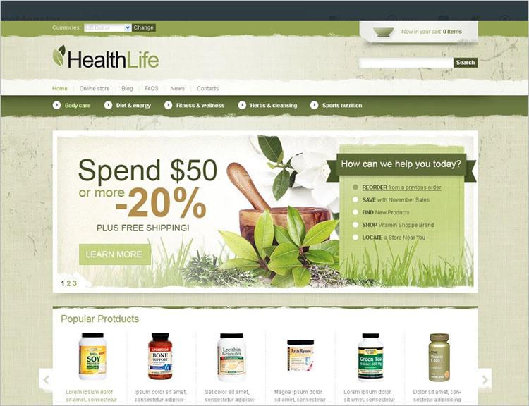 Healthy Life Joomla Templates