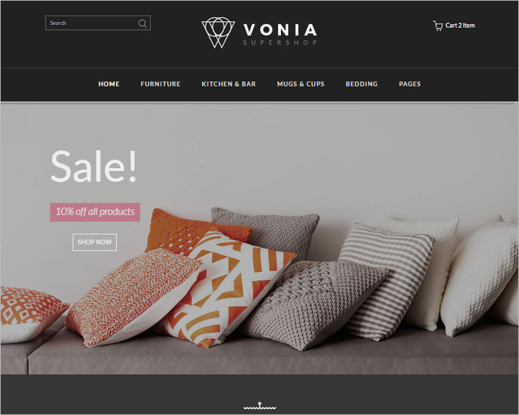 Home Furniture Bootstrap Template