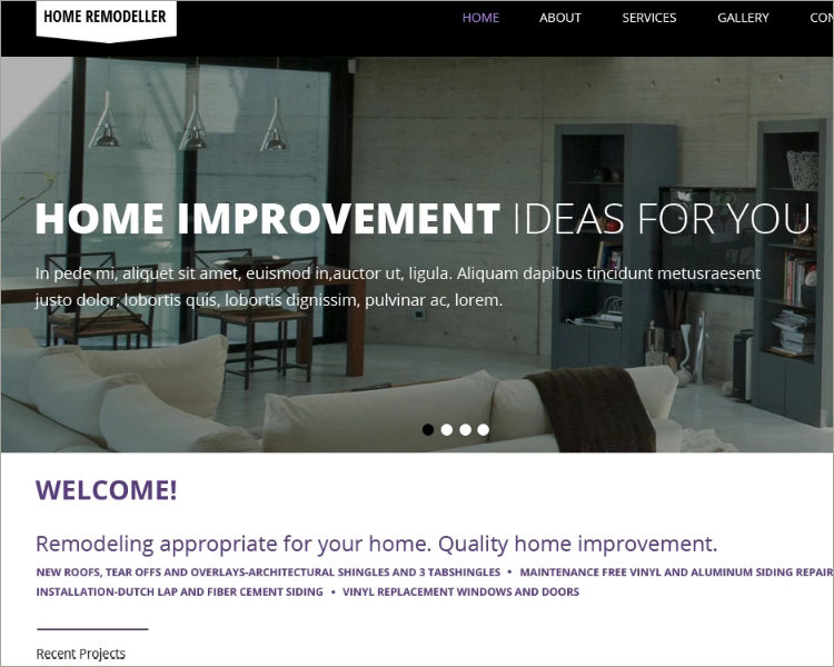Home Remodeling Responsive Theme