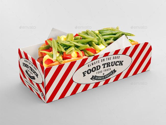 Hot Dog Tray Mock-up