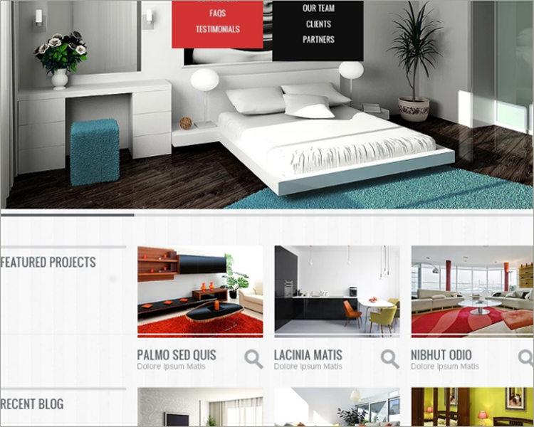 House Interior Design Website Theme