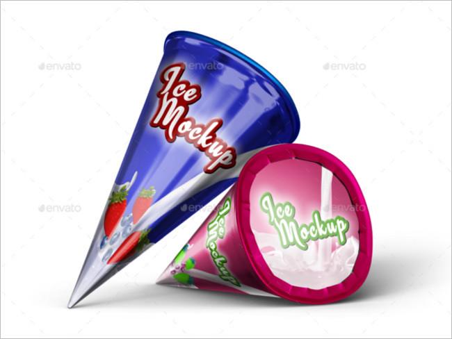 Ice Cream Cone Mockup Download