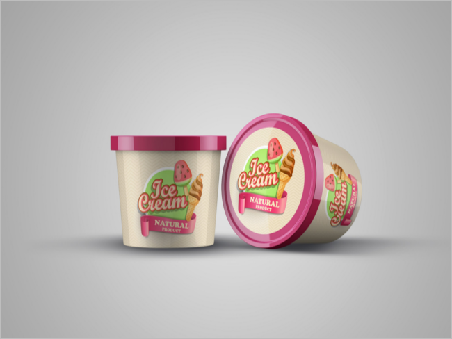 Ice Cream Product Mockup Template