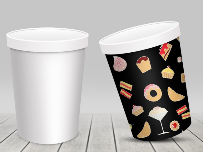 Ice cream Cup Product Psd