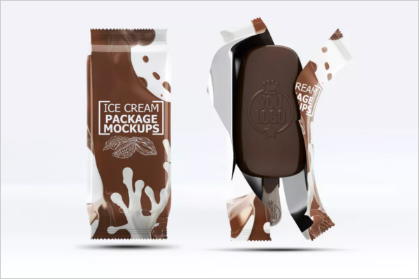 Ice cream Packaging Mockup Design