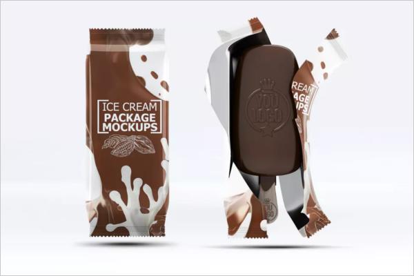 Ice cream Packaging Mockup Design