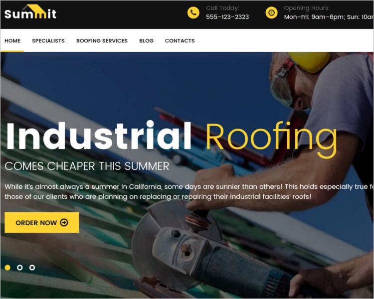 Industrial Roofing WordPress Theme