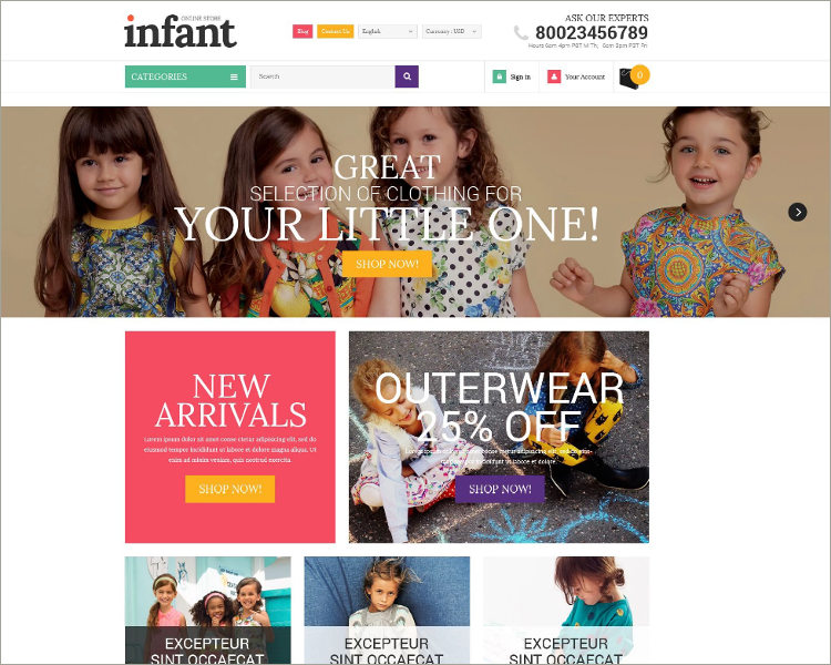 Infant Clothes PrestaShop Theme