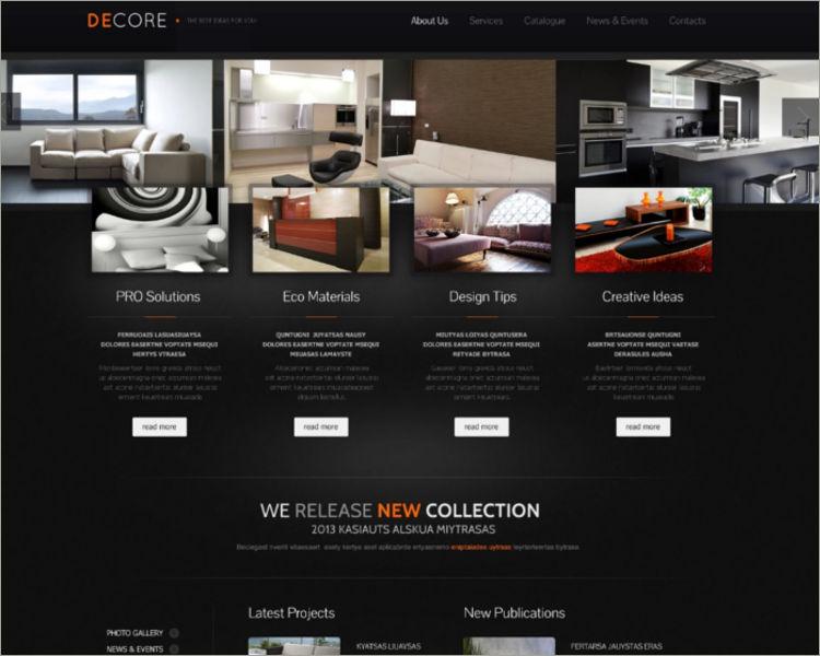 Interior Design Furniture Responsive Website Template
