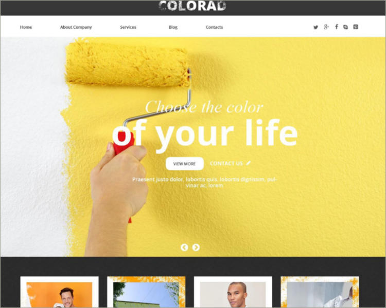 Interior Design Responsive Website Theme