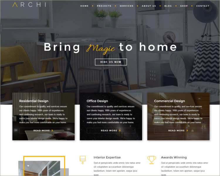 Best Interior Design Website Template ...