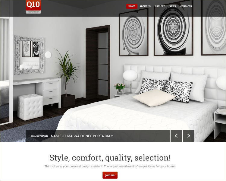 Interior Design Website Template & theme