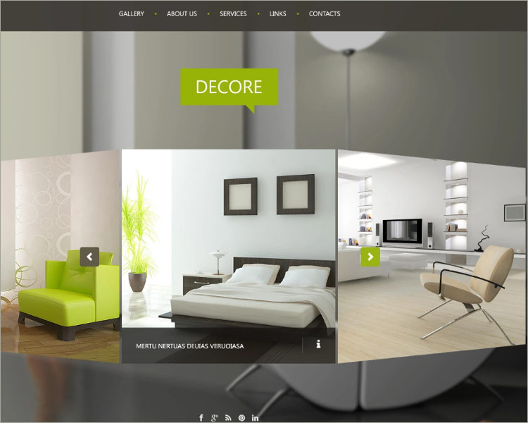Interior Design Website Theme