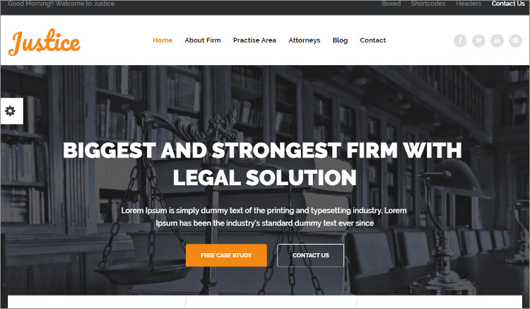 Justice WordPress Templates