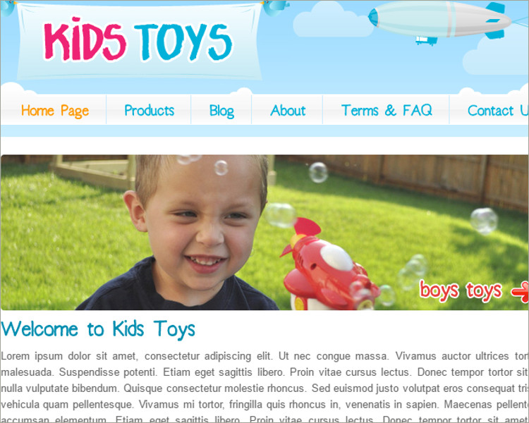 Kids Toys Shop WordPress