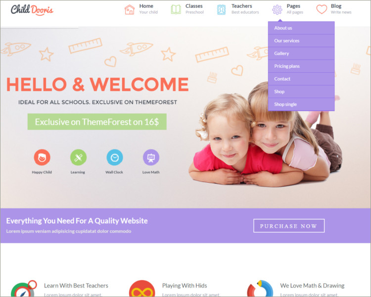 Kindergarten & School WordPress Theme