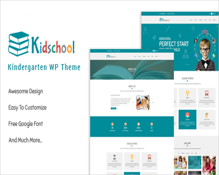 Kindergarten school WordPress Theme