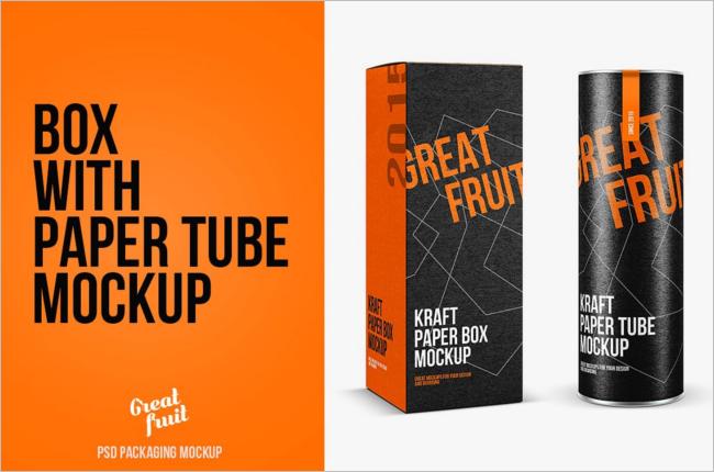 Kraft Box Mockup Template