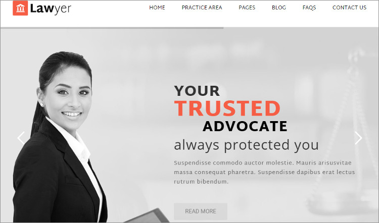 Law Firm Administrator WiordPress Templates