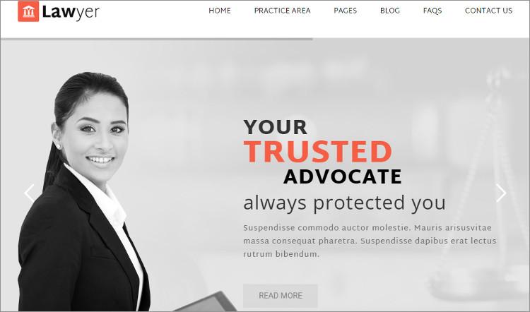Law Firm Administrator WiordPress Templates