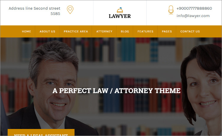 Law Firm Ecinomicsd WordPress Theme