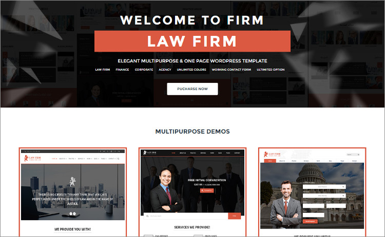 Law Firm Hiring wordPress Theme