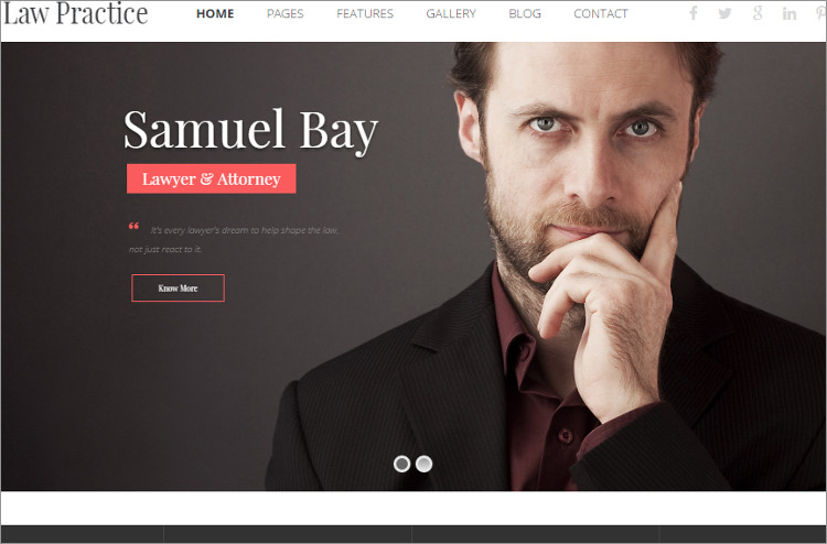 Law Pratice WordPress Templates