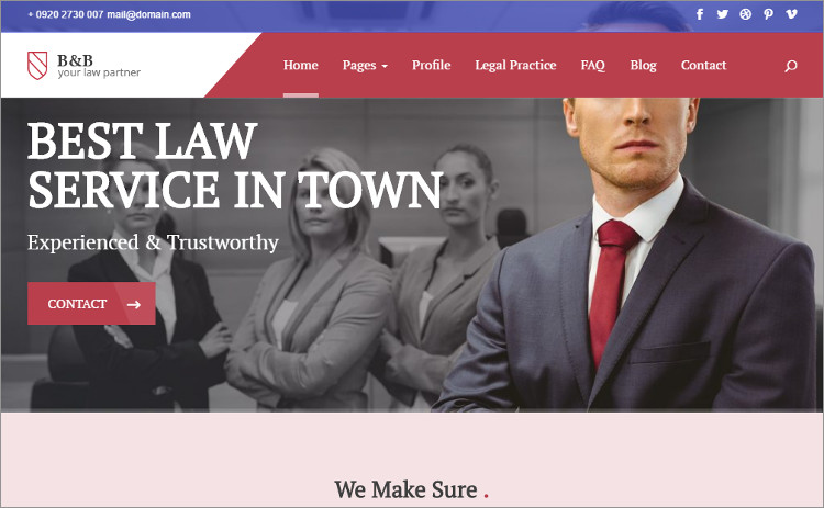 Law firm marketing WordPress Templates