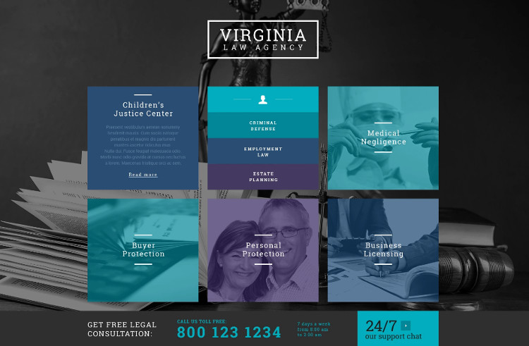 Law firm wordPress Design Theme