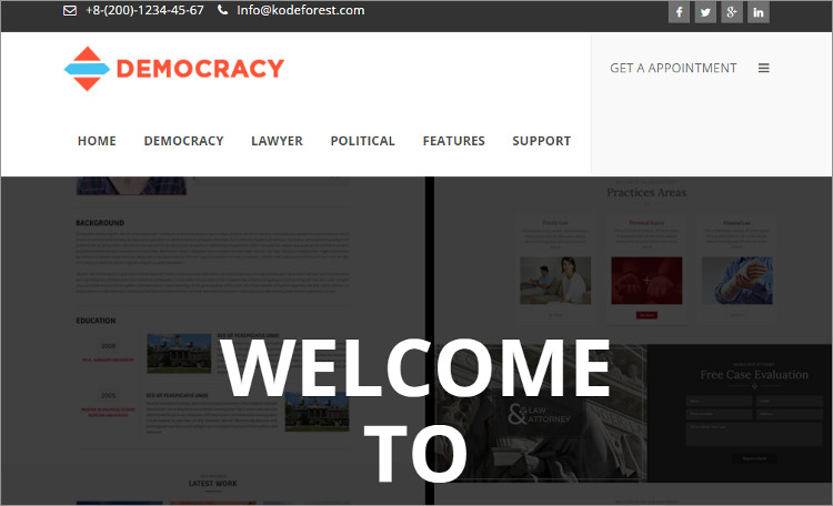 Law firn Internship wordPress Theme