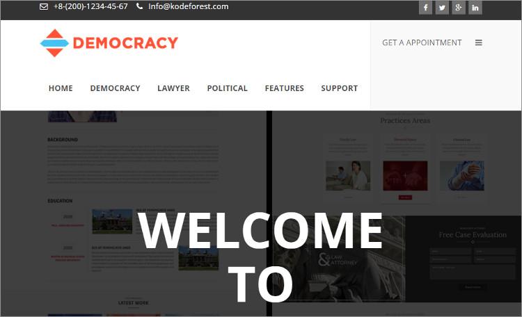Law firn Internship wordPress Theme