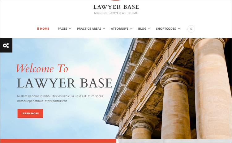 Lawyer accountent WordPress Templates