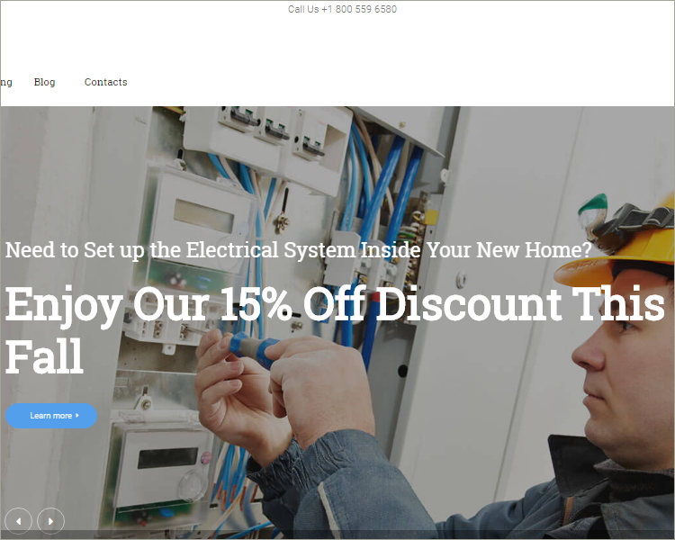 Local Electrical Service WordPress Theme