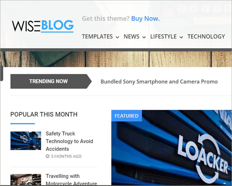 Magazine Blog and Shop Theme