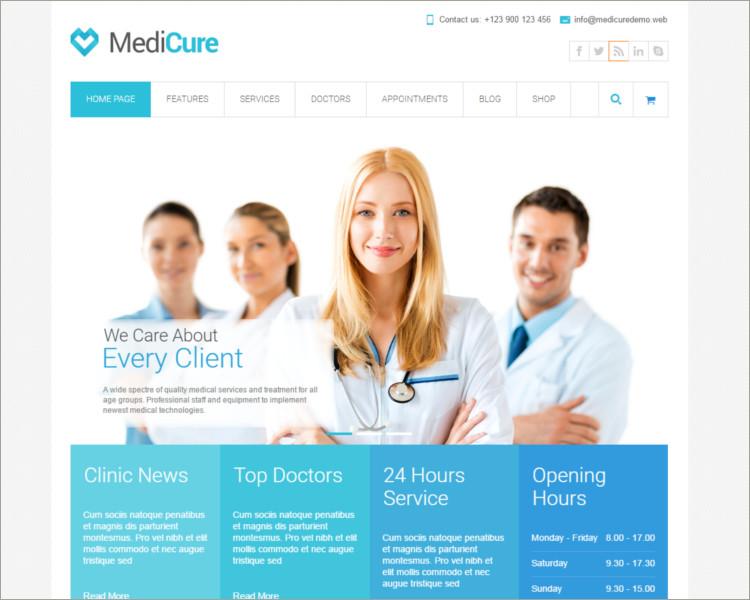 MediCure Acupuncture WordPress Theme