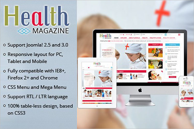 Medical Magazine Joomla Ttemplate
