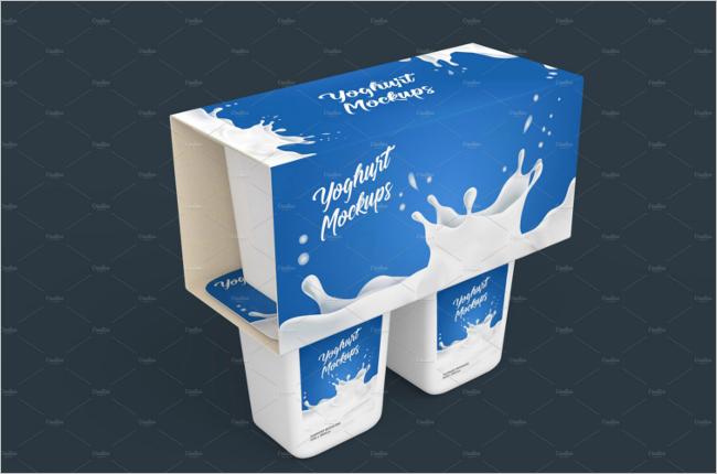 Milk Packing Box Mockup