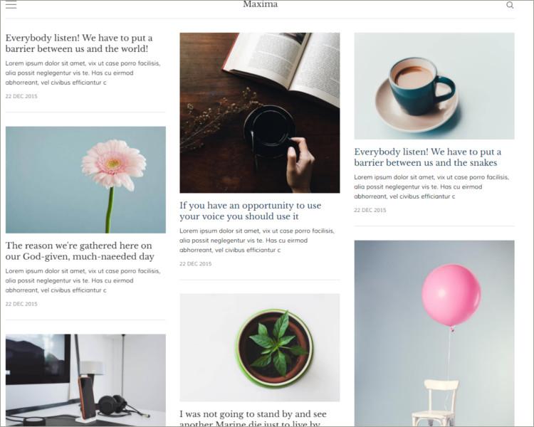 Minimal Blog and Magazine Ghost Theme
